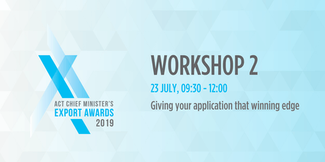 ACT Export Awards Application Workshop tickets