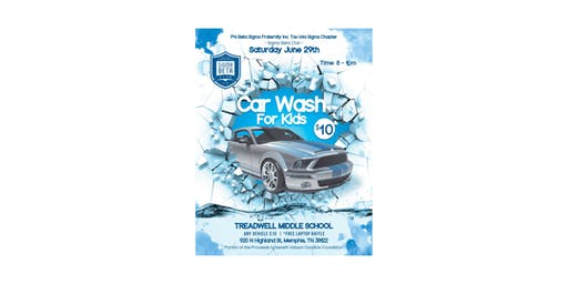 Car Wash for Kids 2019 - Memphis Sigma Beta Club
