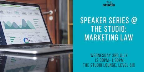 Speaker Series @ The Studio: Marketing Law tickets