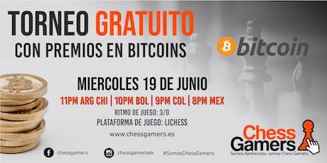 Torneo Gratuito Chess Gamers con Premios en Bitcoin Tickets