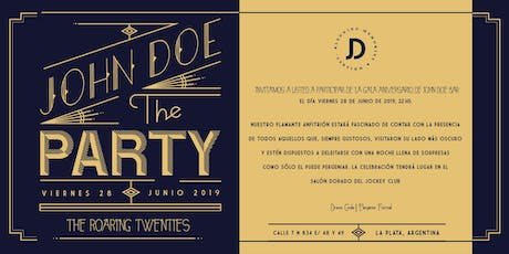 John Doe The Party - Roaring Tweenties - Aniversario entradas