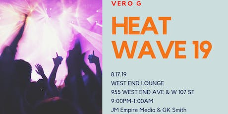 Heat Wave Summer Showcase Vero G/Rock the Mic Rap Battle Event MC DJ Chef tickets