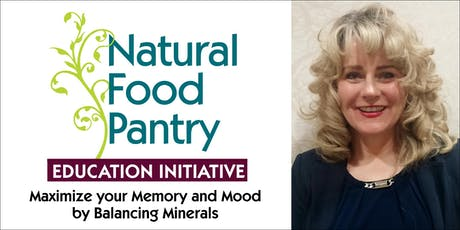 Maximize your Memory and Mood by Balancing Minerals tickets