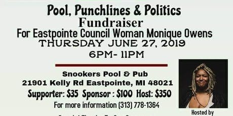 Pool, Punchlines  and Politics tickets
