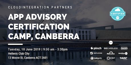 Canberra CI Partners 2019 Intro to App Advisory Certification Camp tickets