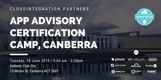 Canberra CI Partners 2019 Intro to App Advisory Certification Camp