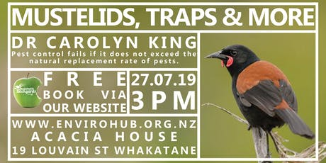 Mustelids, Traps & More- A presentation by Dr Carolyn King tickets