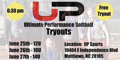 14U Fall Softball Ultimate Performance Sports Tryout