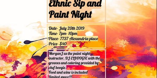 Ethnic Sip and Paint Night