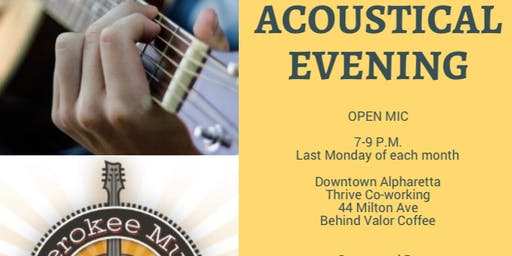 Acoustic Evening Open Mic