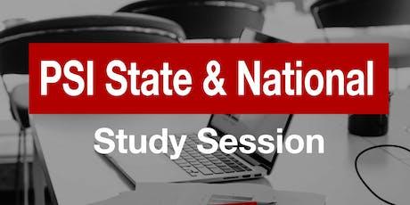 November PSI Study Session tickets