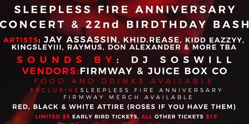 Sleepless Fire Anniversary Party