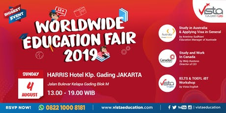 Worldwide Education Fair 2019 Jakarta - Harris Hotel Kelapa Gading tickets