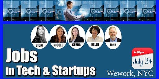 Jobs in Tech & StartUps -  A Career Roundtable Event for Job Seekers