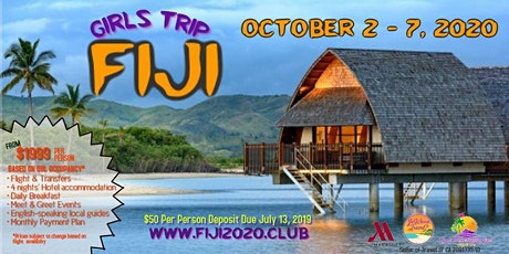 Fiji Girls Trip 2020 tickets