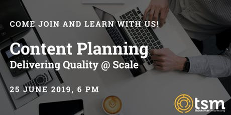 Content Planning: Delivering Quality at Scale tickets
