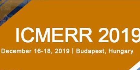 4th International Conference on Mechanical Engineering and Robotics Research (ICMERR 2019) tickets