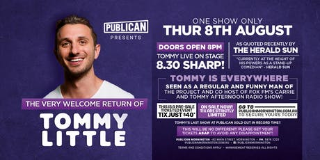 Tommy Little LIVE at Publican, Mornington! tickets