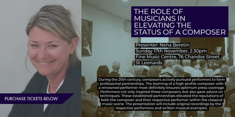 A Musician's Role in Elevating a Composer's Status - Enjoy, Learn, Discuss tickets
