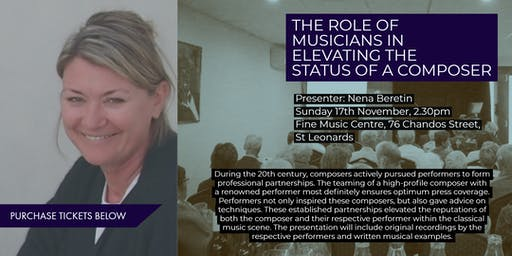 A Musician's Role in Elevating a Composer's Status - Enjoy, Learn, Discuss
