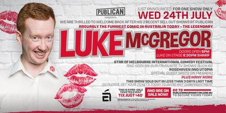 Luke McGregor LIVE at Publican, Mornington! tickets