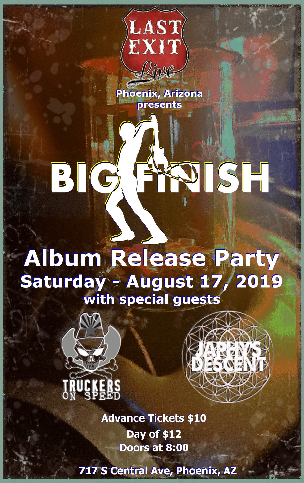 Big Finish – Album Release – Tickets – Last Exit Live