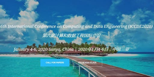 2020 the 5th International Conference on Computing and Data Engineering (ICCDE 2020)