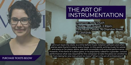 The Art of Instrumentation - Enjoy, Learn, Discuss tickets