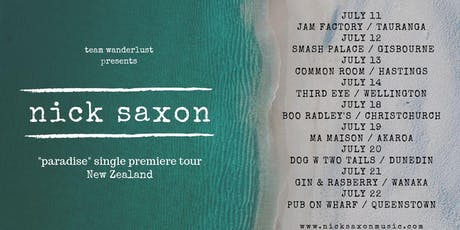 "Nick Saxon (Aus) live at the ""Common Room"" Hastings  tickets"