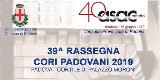 39° Rassegna Cori Padovani 2019