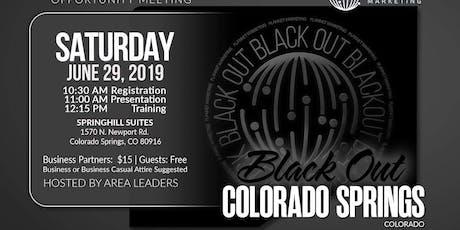 "Saturday ""Black Out"" Event - Colorado Springs  tickets"