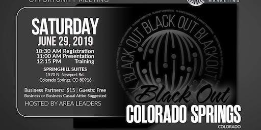 "Saturday ""Black Out"" Event - Colorado Springs"