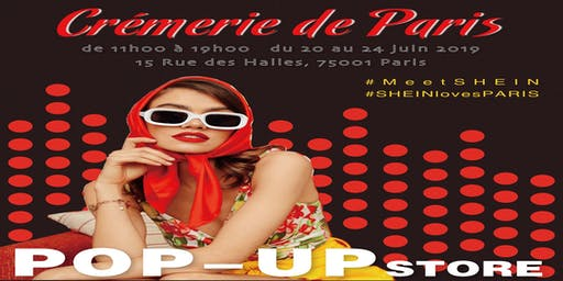 POP UP STORE SHEIN à Paris