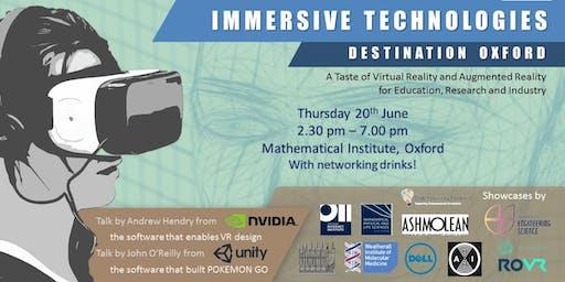 Immersive Technologies: Destination Oxford