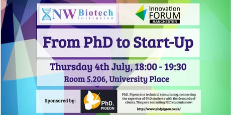 From PhD to Start-Up: Manchester tickets