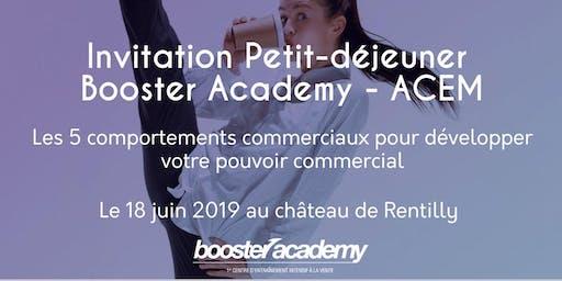 Invitation petit dejeuner Booster Academy à l'ACEM