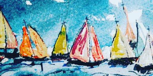 Watercolour Art Experience at Gobbins Studio with Audrey Kyle Art