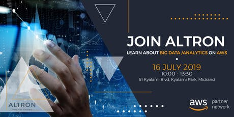 Join Altron - Learn about Big Data/Analytics on AWS tickets