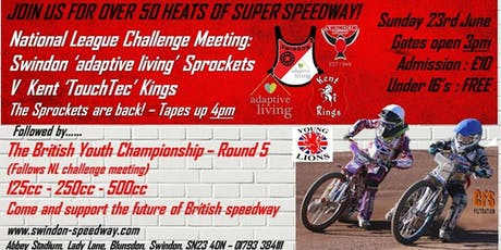 Swindon Sprockets V Kent Kings + British Youth Championship Round 5 tickets