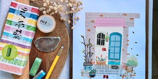 Journaling Festival 2019: Workshop - MT Washi Tape Collage Art by Sylvain Yong