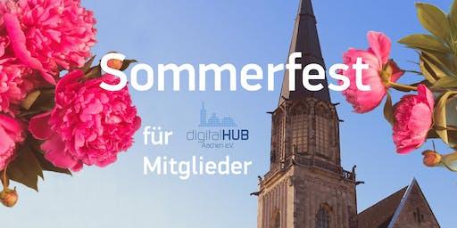 Sommerfest für Mitglieder digitalHUB Aachen