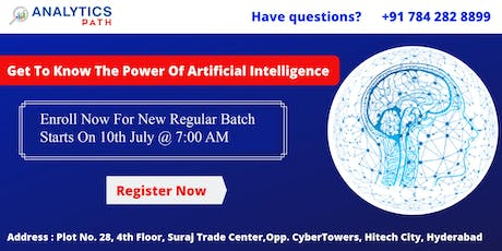 Get Registered For New Regular Batch On AI By Experts From IIT & IIM By Analytics Path Scheduled On 10th July 7 AM, Hyderabad.  tickets