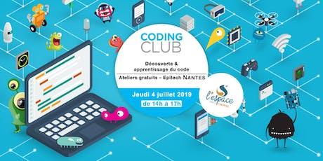 Coding Club à l'Espace Cholet ! billets