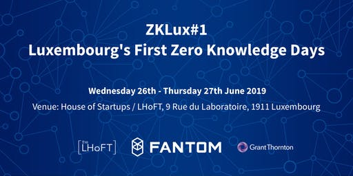 ZKLux#1: Luxembourg's First Zero Knowledge Days