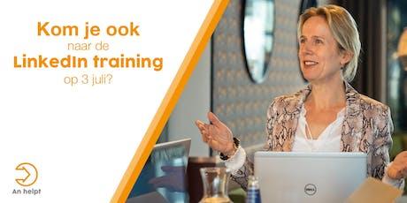 Haal meer uit je LinkedIn profiel. LinkedIn training voor ondernemers.  tickets