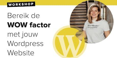 Workshop: Boost your WordPress 5 September tickets