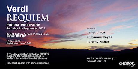 VERDI REQUIEM - Workshop tickets