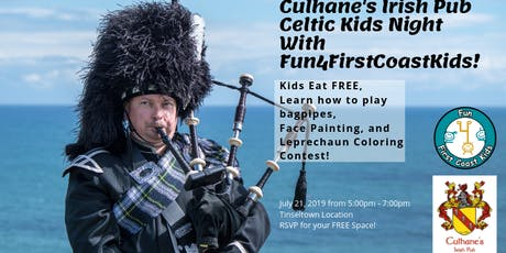 Culhane's Southside Celtic Kids Night with Fun4FirstCoastKids.com tickets