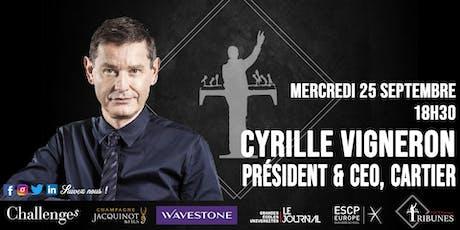 Tribunes reçoit Cyrille Vigneron billets