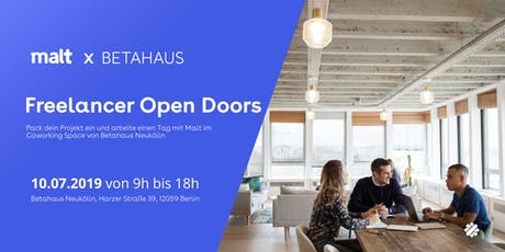 Malt x Betahaus Neukölln: Open Doors for freelancers tickets